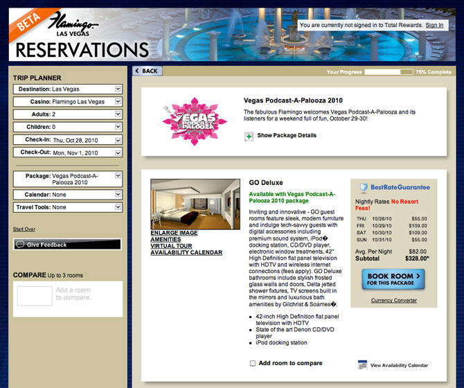 Flamingo Beta Reservation System