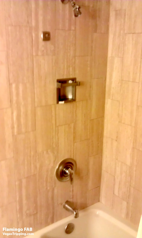 Flamingo Las Vegas FAB Rooms ReviewShower