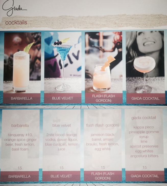 Giada Review Menu Cocktails