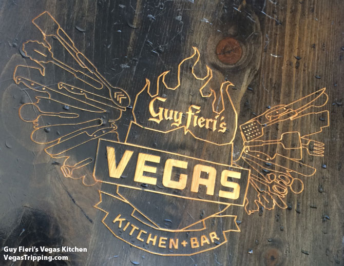 Guy Fieri Vegas Menu