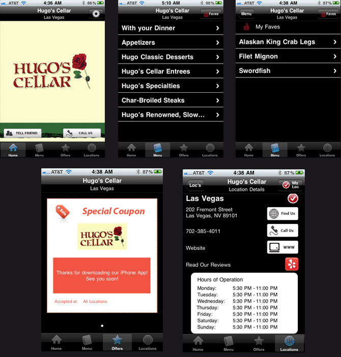 Hugou0027s Cellar iPhone App  sc 1 st  Vegas Tripping & Hugou0027s Cellar Adds iPhone App To Menu : VegasTripping.com