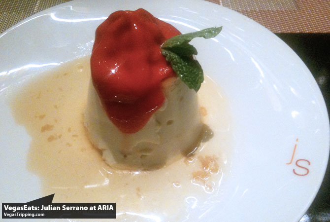 Julian Serrano Tapas at ARIA Las Vegas Restaurant Review flan