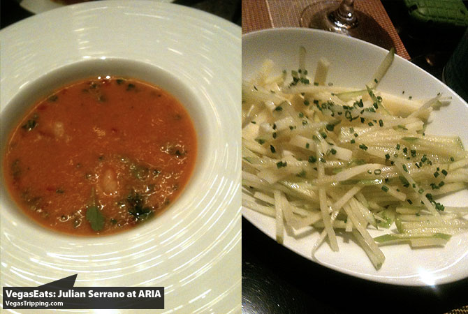 Julian Serrano Tapas at ARIA Las Vegas Restaurant Review Gazpacho