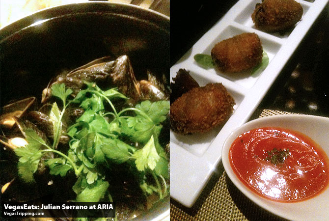 Julian Serrano Tapas at ARIA Las Vegas Restaurant Review Mussels