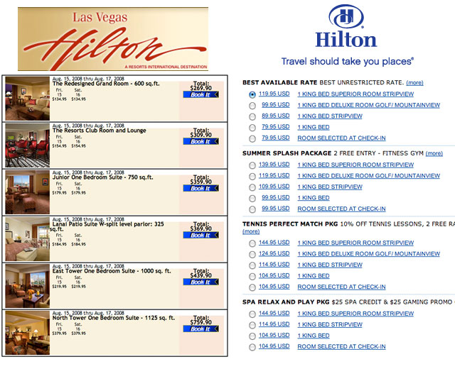 Booking Las Vegas Hilton Best Rates