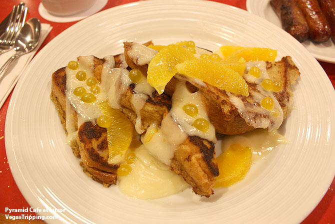 Luxor Pyramid Cafe Orange Creamcicle French Toast