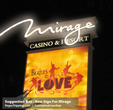 New Mirage Logo Sign