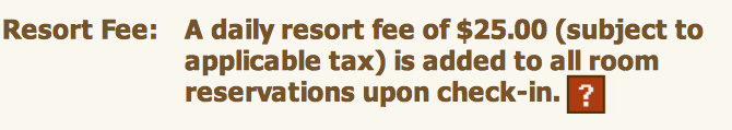 Resort Fee
