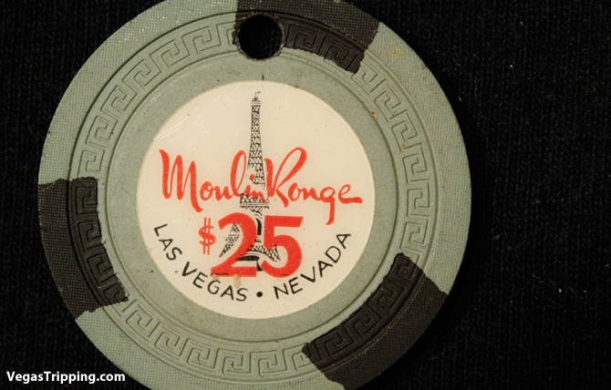 Moulin Rouge $25 chip drilled
