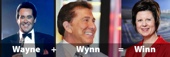 Wayne plus Wynn equals Winn
