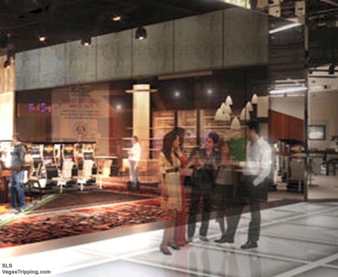 SLS Casino Floor Rendering Fred Segal