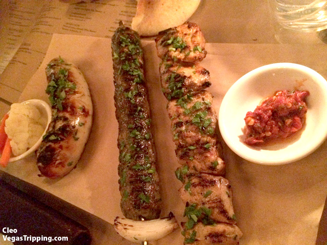 and sausage menu - we ordered (left to right) the Boudin Blanc sausage