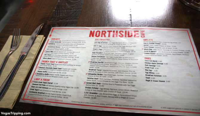 SLS Las Vegas Northside Cafe Review Menu