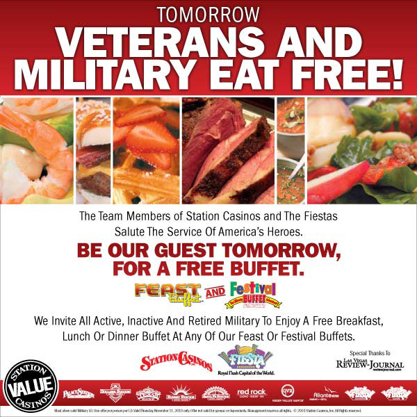 awesome station offers free buffets for veterans vegastripping com rh vegastripping com las vegas free buffet deals las vegas free buffet deals