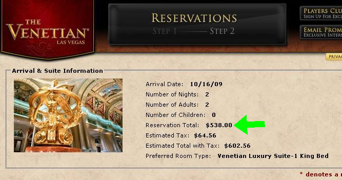 Venetian Suitest Hotel Rates
