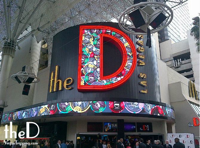 The D logo signage
