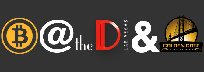The D Accepts Bitcoin Logo