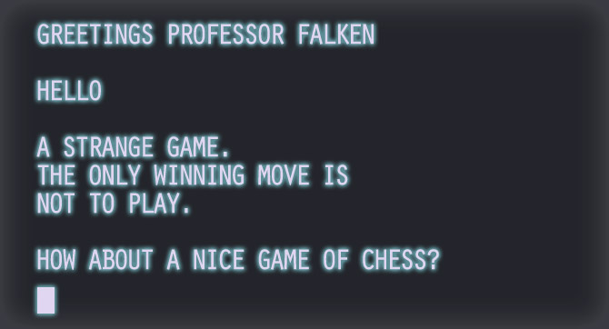 War Games Professor Falcon