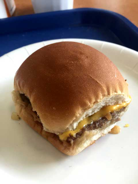 Deconstructing the white castle for White castle double fish slider with cheese