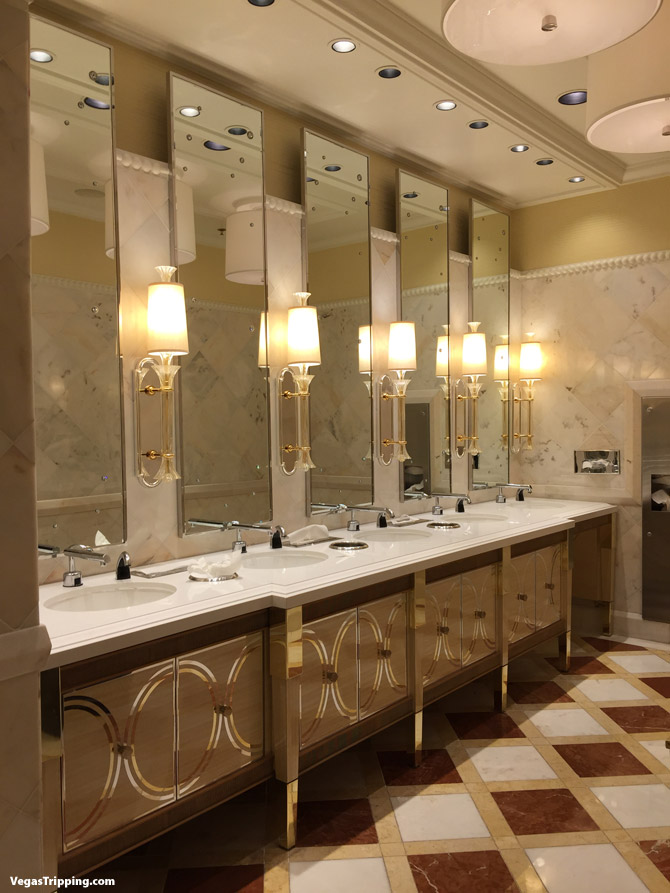 Gorgeous The Sink Fixtures And Basin To Ceiling Mirrors Add Modern