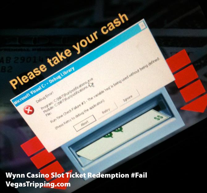 Wynn Slot Machine Ticket Fail