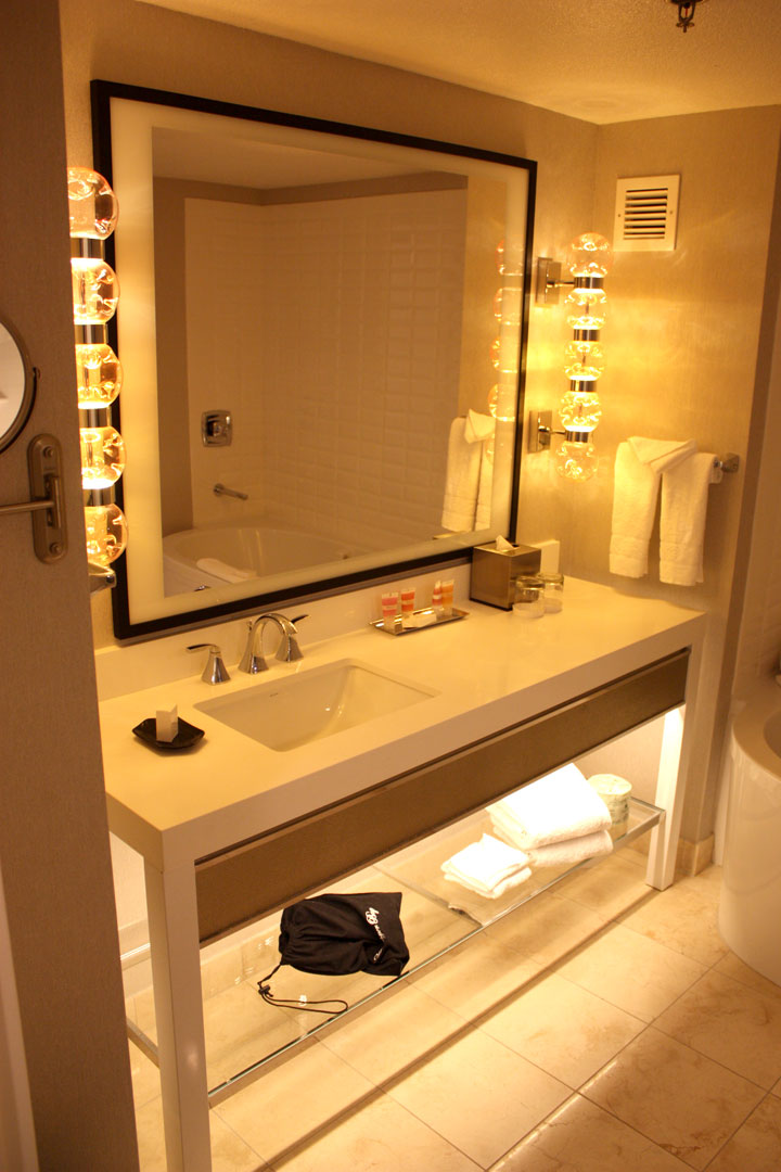 Planet Hollywood Ultra Hip Room Review Sink Mirror