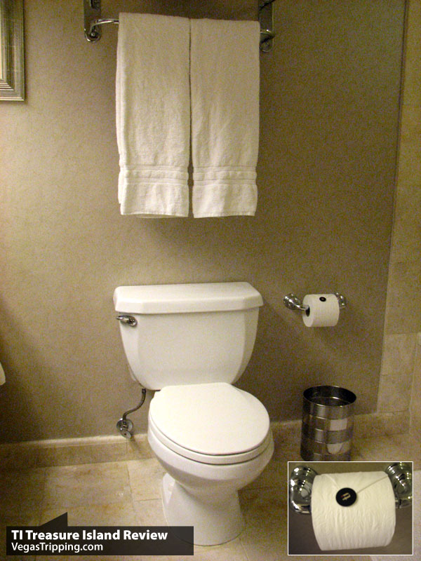 TI Treasure Island Las Vegas Review Toilet