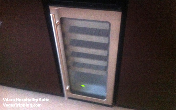 Vdara Hospitality Suite Review: Wine Fridge