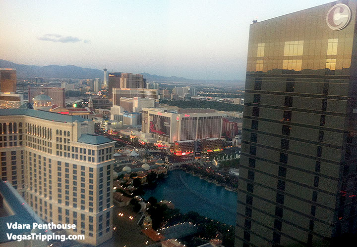 Vdara Penthouse Review View Bellagio