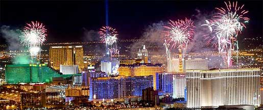 Las Vegas New Years Eve Fireworks Display