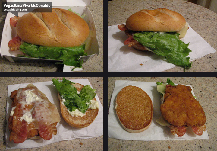 Viva McDonalds Las Vegas Strip Review -  Sandwich